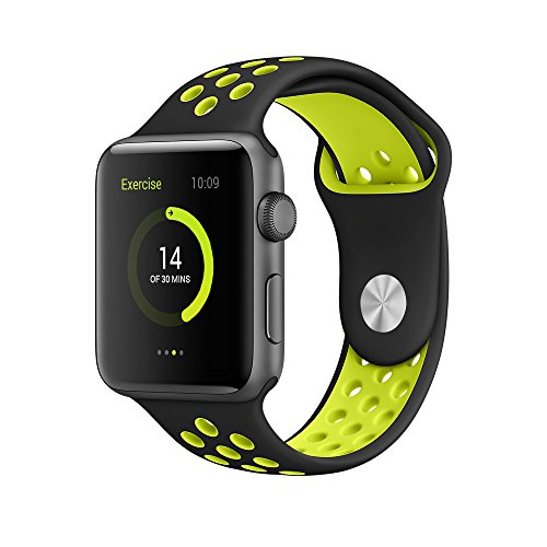 Elobeth-for-Apple-Watch-Band-Series-1-Series-2-Soft-Sports-Silicone-Bracelet-Strap-Wristband-Replacement-Watchband-with-Adjustable-Buckle-and-Quick-Release-for-Apple-iWatch
