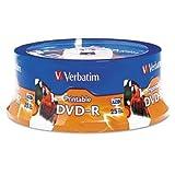 Verbatim DVD-R Disc, 4.7 GB, 16x, White, 25/Pk