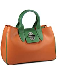 Belli , Sac à main pour femme Orange  Orange 36x25x18 cm (B x H x T)