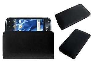 Acm Rich Leather Soft Case For Pantech Burst P9070 Mobile Handpouch Cover Carry Black