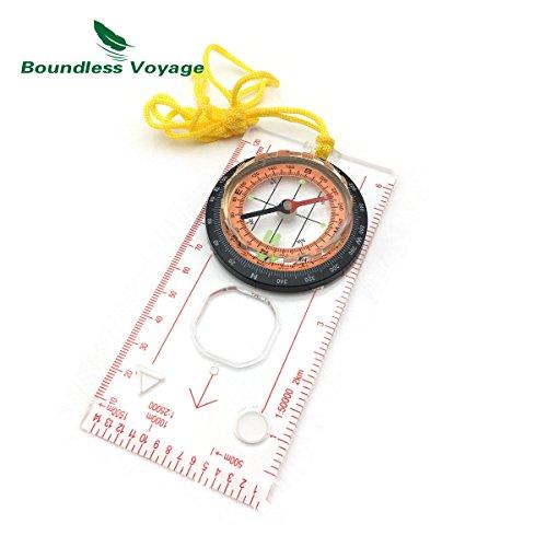 CATOP Kompass Outdoor,Portable Premium Wasserdichte Kartenkompass,Flüssigkeitsgefüllt Bodenplatte mit Kartenlineal Feldkompass Navigation Tools ideal für Camping Wandern andere Outdoor-Aktivitäten