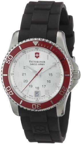 Victorinox 241484 - Reloj para mujeres, correa de goma color negro