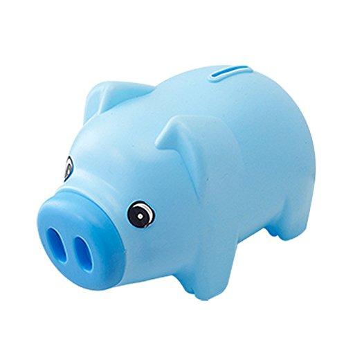 TOYMYTOY Hucha Plastic Saving Pot un regalo único perfecto de Navidad para los niños (azul)