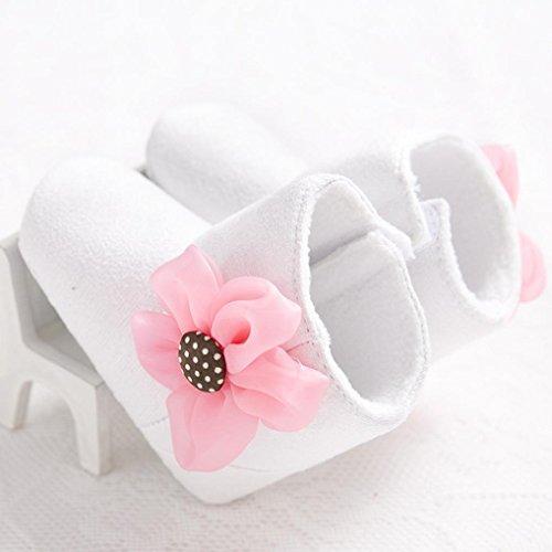 Hunpta Schöne Baby Schneestiefel weiche Sohle weiche Krippe Schuhe Kleinkind Stiefel Weiß