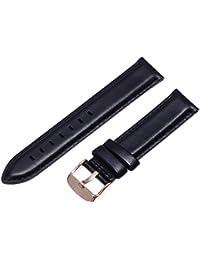 Daniel Wellington Damen Uhren-Armband Classic Sheffield Leder schwarz Schliesse roségold DW00200036