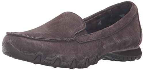 Skechers Bikers - Lamb, Mary Jane Donna Chocolate Suede Relaxed