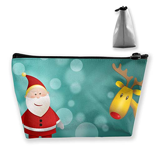 Happy Christmas Funny Logo Large Trapezoidal Storage Pouch Travel Accessories Cosmetic Tote Bag Carry Case -