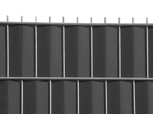 Zaun-Nagel Sichtschutz zum Doppelstabzaun, anthrazit Rolle á 70 m inkl. 12 Stk. Klemmschienen