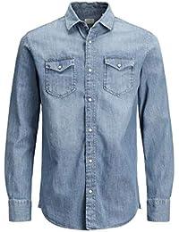 Jack & Jones Jjesheridan Shirt L/S Chemise en Jean Homme