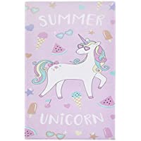 Catherine Lansfield Summer Unicorn Beach Towel Multi 76x160cm