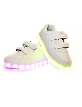 Envio 24 Horas Usay like Zapatillas LED Con 7 Colores Luces Carga USB Blanco Unisex Niños Talla 25 hasta 34 Envio...