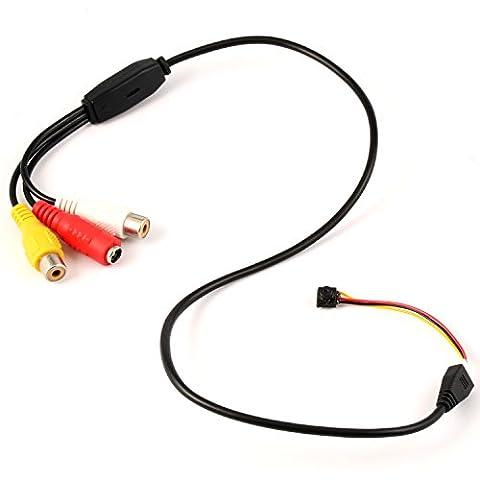 GEREE 800TVL NTSC / PAL Mini CCTV Monitor Video Audio Loch Kamera Versteckt Spion Mikro Kamera für Sicherheit Überwachung