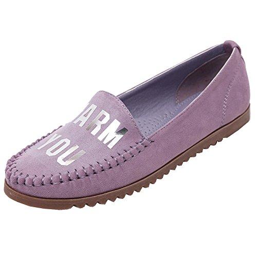 Chaussures Femme Moccasin Bateau Classic Plat Vacances D'été Plage Bateau Chaussures Violet