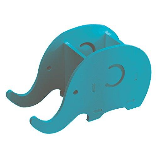 qinghu multifuncional elefante forma bolígrafo/soporte para el lápiz organizador de escritorio soporte en forma de Creative teléfono celular, color azul
