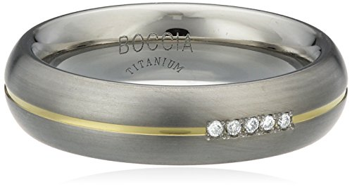 Boccia Damen-Ring You & me Titan Diamant (0.025 ct) Brillantschliff weiß Gr. 53 (16.9) - 0130-0453