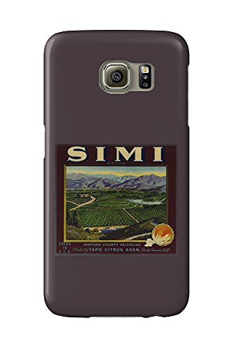 Simi Orange - Vintage Crate Label (Galaxy S6 Cell Phone Case, Slim Barely There) - Orange Crate Label