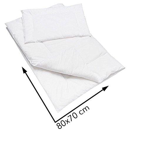 hypoallergénique Housse de couette et taie d'oreiller de 80x 70cm pour berceau ou landau