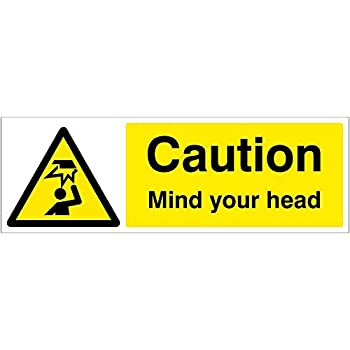 300 mm x 100 mm Rigid Plastic Caledonia Signs 14209G Caution Mind the Step Sign