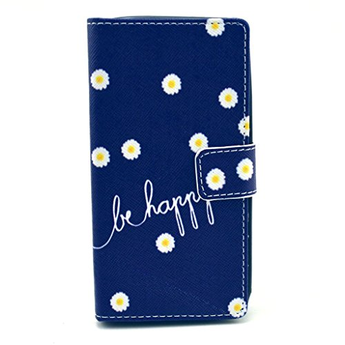 fenrad® Ultra Slim Custodia in pelle Protettiva Flip Stand Cover per Nokia Lumia 630 635 630N Cuoio Portafoglio Sottile Borsa Wallet Case con Chiusura Magnetica&Titolare Carta +1 x Gratis Penna--Blue dots