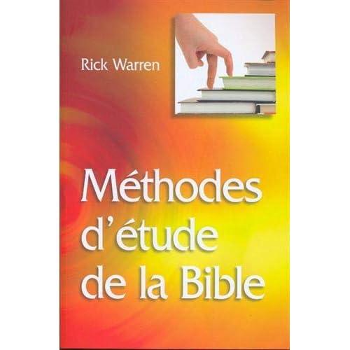 Méthodes d'étude de la Bible