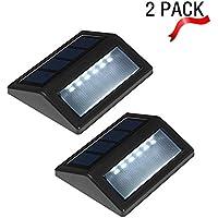 Pack de 2 luces de E-JIAEN, funcionan con energía solar, Natural White