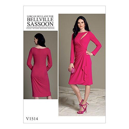 vogue-patterns-1514a5patron-de-couture-robe-patterns-soie-multicolore-tailles-6-14