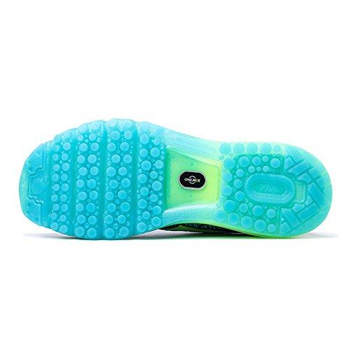 Azul Almofada Sneakers Mulheres Homens De Ar Leves Com Sapatos Calçados Ar Onemix Escuro Correndo Sapatos Esportivos p6zzw