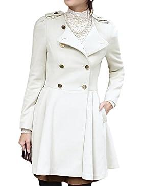 Scothen Abrigo Chaqueta Trenchcoat Chaqueta de invierno para mujer Outwear con capucha