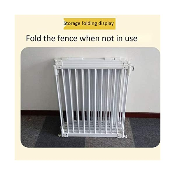 Metal Fireplace Fence Pet Playpen/Safety Gate/Safety Barrier/Stove & Fire Guard/Room Divider (Color : Height 78cm, Size : Panel 1+7) Huo ● pet playpen materials: strict selection of standard safety materials ABS plastic +Seamless steel pipe + environmental protection paint ●Automatic rebound: automatic rebound when less than 90°, normally open when greater than or equal to 90°,Open door size increased to 44cm for Easy access ● Scalable and ideal private space: The size of each piece of iron net is 64 x 78 cm. Our fence for pets allows the free installation and adaptation of the right room to your needs. It can be the private room of a pet, a playground or a delivery room to soothe the care. 7