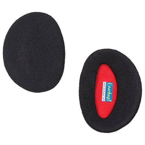 Earbags Fleece Ohrwärmer Mütze war gestern Standard Ohren Schützer, earbags fleece, Farbe schwarz, Größe L
