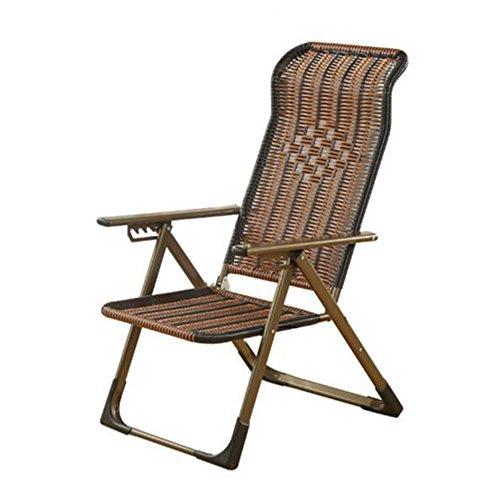 GXYGWJ Folding Lounge Chair Mittagspause Couch Büro Bett Liege Zurück Faul Stuhl Stuhl Balkon Strandkorb Klappstuhl (Color : Flat feet)