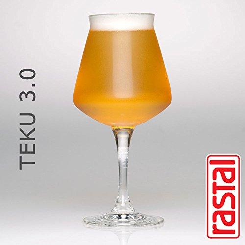 Teku 3.0Craft Bier Tasting Gläser von Rastal, 6Stück, 14.2ounce, transparent