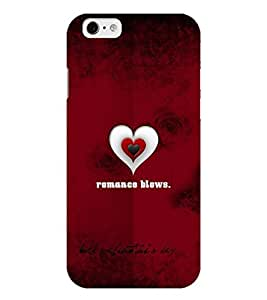 Chiraiyaa Designer Printed Premium Back Cover Case for iPhone 6 (boy girl friend valentine miss kiss heart pattern) (Multicolor)