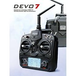 Walkera devo-7controlador remoto para Drone, Negro