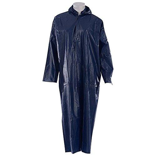Krystle Women's Pvc Raincoat (Kry-Wrovercoat_Black_Free Size)