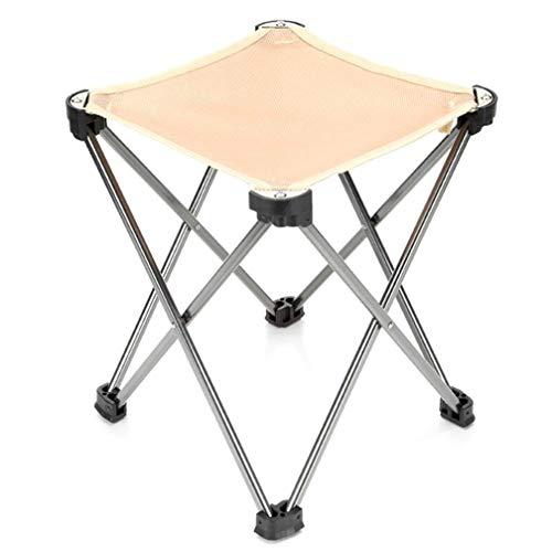 SZP Tabouret Pliant en Plein air, Chaise de pêche Portable en Aluminium, Chaise d'esquisse légère, Tabouret carré, résistant à l'usure et compressive, applicabilité Forte,Khaki
