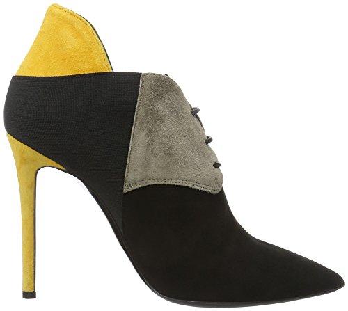 Pollini Damen Shoes Pumps Mehrfarbig (Black + beige + yellow 00A)