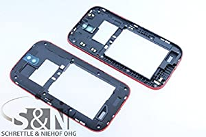 NG-Mobile Original HTC ONE SV Mittelgehäuse Cover Rahmen Kamera Linse, rot