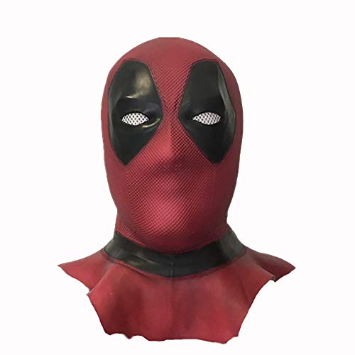 kind heartedJC Maske Latex Head Face Helm Film Wade Wilson Cosplay Kostüm Kleidung Replik Für Herren Party Kostüm Zubehörlong-Dead Pool (Herr Wilson Kostüm)