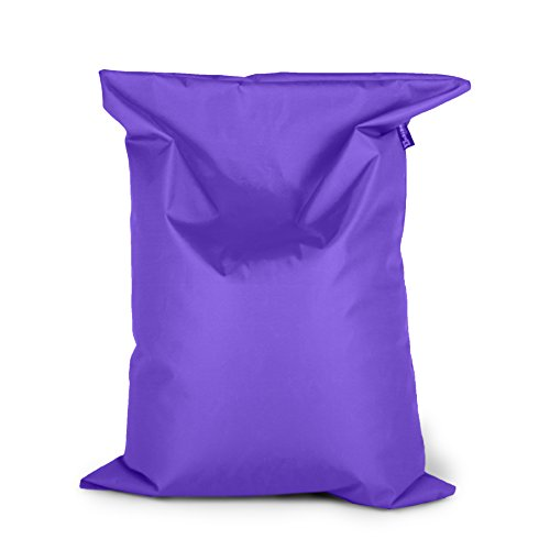 BuBiBag Sitzsack 150x100cm ca.340L mit Füllung Sitzkissen Rechteck Bodenkissen Kissen Sessel BeanBag (lila)