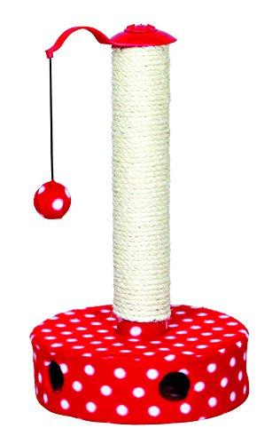 Trixie tiragraffi con rivestimento in pile, 45cm, colore: rosso/bianco