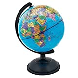 #7: Amikan Premium Quality Universal 12 Inches Globe II Table Top Political World Globe ||With Time Scale || Scratch Proof Surface || Ideal for Children || For Office|| For School || 12 Inch || Rotating Globe