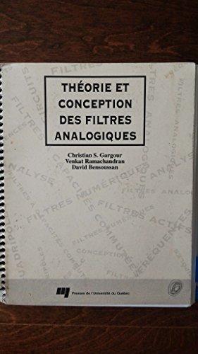 Théories et conception des filtres analogiques par Anonyme