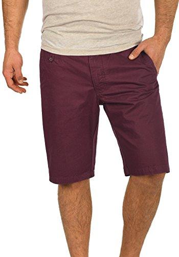 BLEND Sasuke Herren Chino Shorts kurze Hose, Größe:XXL;Farbe:Wine Red (73812)