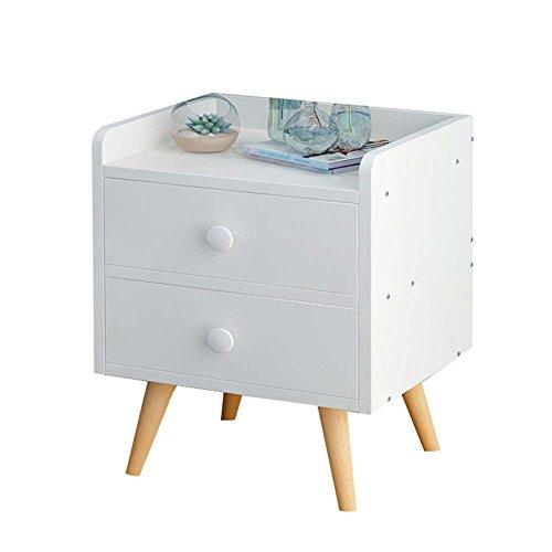 Table de chevet JCOCO Blanche avec Rangement à Panneau à Base de Bois de tiroir, de boîte de Rangement de casier de Chambre à Coucher (Couleur : B, Taille : 33 * 28 * 42CM)