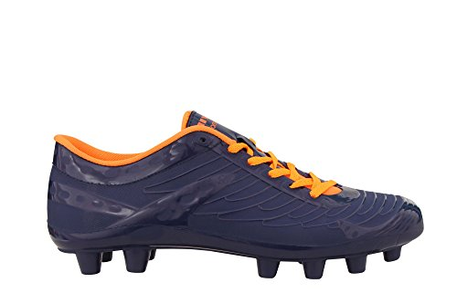 Nivia Dominator Football Stud, UK 8 (Blue/Orange)