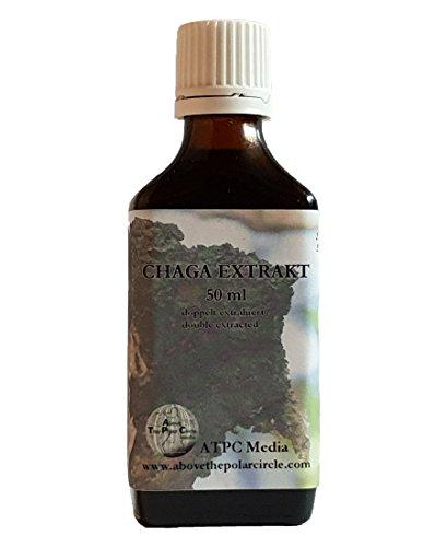 Chaga Extrakt in Tropfenform 50ml - ohne Zusatz von Alkohol -