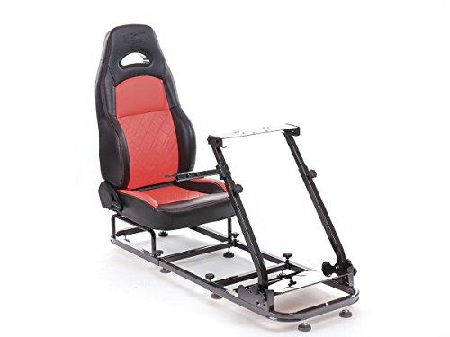 FK-Automotive FK Gamesitz Spielsitz Rennsimulator eGaming Seats Silverstone schwarz/rot FKRSE18905