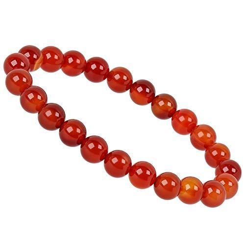 PowerBead Edelstein Perlen Armband 8mm mit Karneol rot Energieband für Damen und Herren - Armband Bead Herren