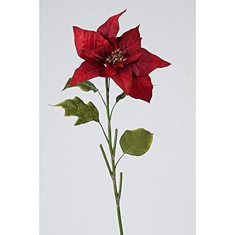 Flor de Pascua artificial - Ponsetia, rojo, 70 cm - flor sintética /planta artificial - artplants